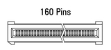 Dimensions EC.8 straight 160 pins