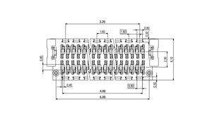 Dimensions Zero8 plug straight shielded 12 pins