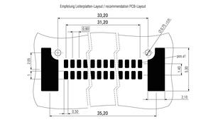 Dimensions Zero8 plug angled unshielded 80 pins