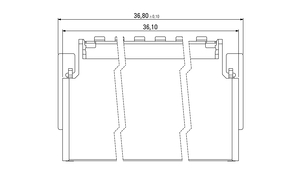 Dimensions Zero8 socket angled shielded 80 pins